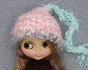Fluffy Pink Blythe hat