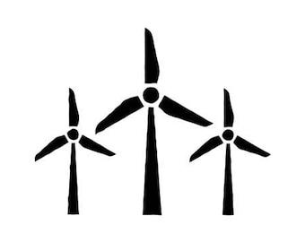 Wind Turbine Die-Cut Decal Car Wind TurbineWindow Wall Bumper Phone Laptop