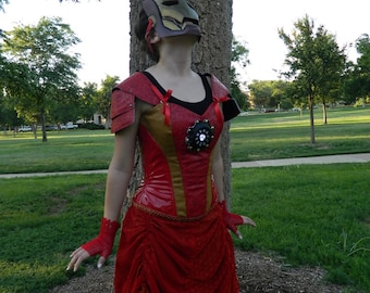 Steampunk Avengers Ironman Corset and Skirt // Cosplay