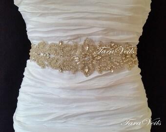 Swarovski Rhinestone Sash,Wedding Sash, Wedding Belt, Belt,Sash, Bridal Sash, Beaded Sash, Rhinestone Wedding Sash, Wedding Sash