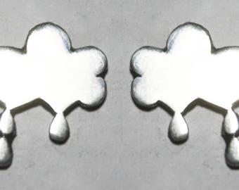 Earrings little cloud rain