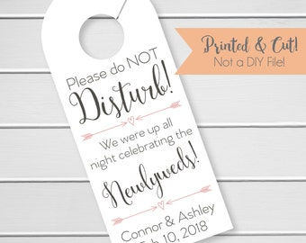 Wedding Door Hanger, Custom Hotel Door Hangers, Destination Wedding Welcome Bag  (DH-006)
