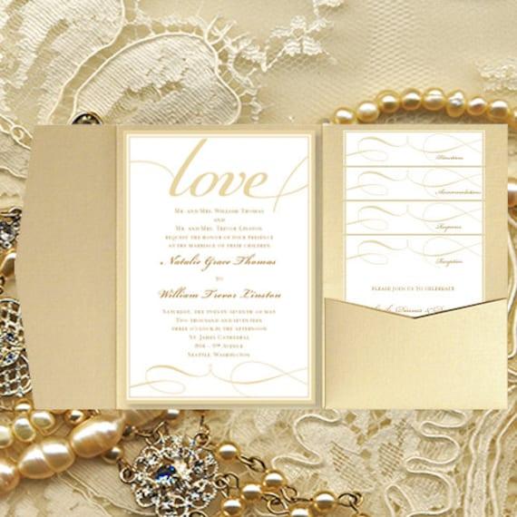 Wedding Invitations With Pockets: DIY Pocket Wedding Invitations It's Love