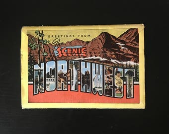 Scenic Northwest Art Cards, Vintage Postcards, 1970's Postcard, Washington State, Oregon, Idaho, Mt. Baker, Northwest Scenes, Card Packet