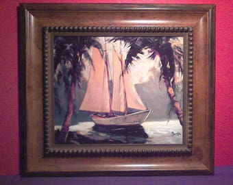 Sail Boat in a Tropical Setting