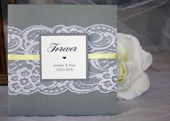 Yellow Grey Wedding Invitations: Grey And Yellow Wedding Invitations Lace Wedding Invitations