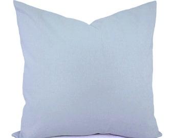 Solid Light Blue Decorative Pillow Cover - Blue Pillow Cover - Linen Pillow Cover - Solid Blue Pillow - Custom Pillows - Blue Throw Pillow