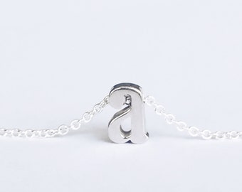 Silver Initial Necklace, Initial Necklace, Initial Necklace Silver, Silver Initial Necklace, Initial Necklace Sterling Silver