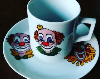 Vintage CLOWN teacup Winterling Schwarzenbach Bavaria Germany