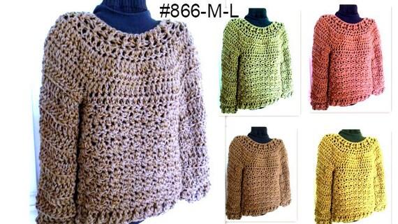Crochet Pattern Pullover Sweaterchunky Oversized Sweater