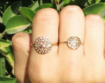 Mandala Ring, Tribal Design, Pattern Gold Ring, Gypsy, Flower Ring, Dainty Gold Ring, Dainty Silver Ring, Hindu Art, Texture Jewelry, Gift.