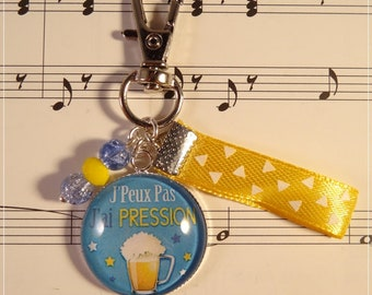 Keyring / bag charm I can not pressure beer