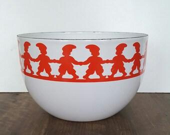 Arabia Finel Kaj Franck Tonttu Design Enamel bowl Made in Finland