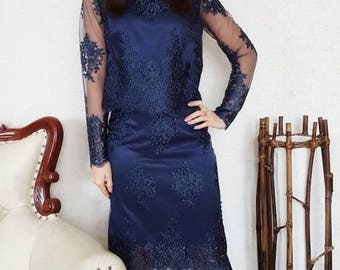 Top and skirt lace suit