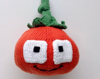 Cuddly soft red tomato