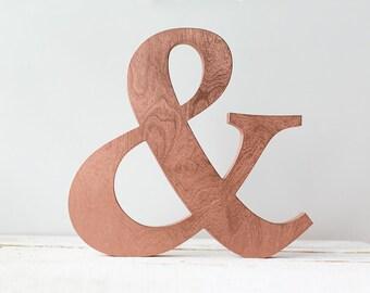 Cuivre lettres - lettres en bois - initiales de cuivre - cuivre ampersand autonomes du décor - lettrage cuivre - manteau home decor - cuivre