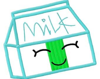 Milk Carton Applique Embroidery Design