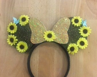 sunflower minnie mouse ears