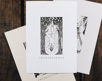 "The Hanged Man - 5x7"" tarot print"