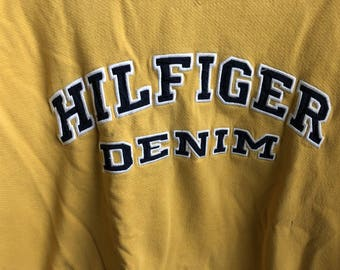 Vintage Tommy Hilfiger Denim Crewneck Sweatshirt Tommy Jeans XXL Size