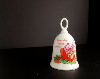 Vintage 1980s Strawberry shortcake bell Friendship is the Berries