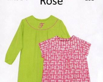 Childrens Corner Pattern / Rose Pattern / Round Yoke Dress Pattern / Children's Corner  #281