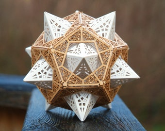 Sacred Geometry Laser Cut DIY Model Kit, Star Orb Dodecahedron, Unique Gifts