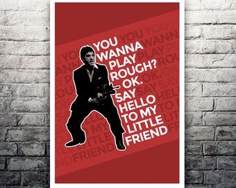 Tony Montana Scarface movie poster print
