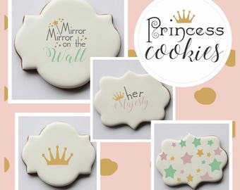 Her Majesty Basic Words Cookie Stencil by Confection Couture
