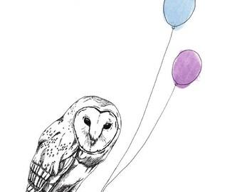 Owl 8x10 Print