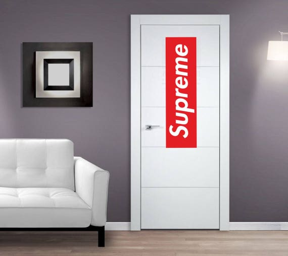 Like this item? & Supreme Door sticker Supreme Wall sticker