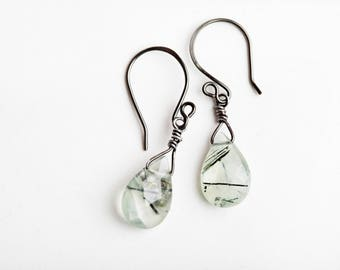 Green Prasiolite Earrings, Green, Prasiolite Earrings, Green Amethyst, Green Gemstone Earrings, Green, Gemstone Earrings, Teardrop Earrings