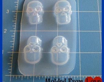 4 Skulls Plastic Resin Mold