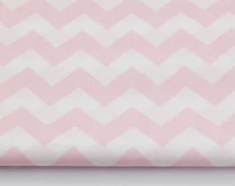 100% cotton fabric piece 160 x 50 cm, textile printing, 100% cotton pink chevron zig zag zig