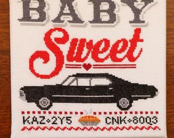 Baby Sweet Impala - Supernatural Cross Stitch Pattern - Digital PDF Downloadable Pattern