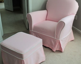 Charmant Custom Nursery Glider Chair And Ottoman Slipcover Set