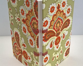 Bounded notebook multicolor vintage fabric