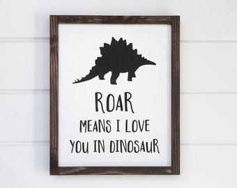 "Dinosaur Nursery Decor, Baby Boy Nursery, Dinosaur Decor, New Mom Gift, Baby Shower Gift, 14"" x 12"""