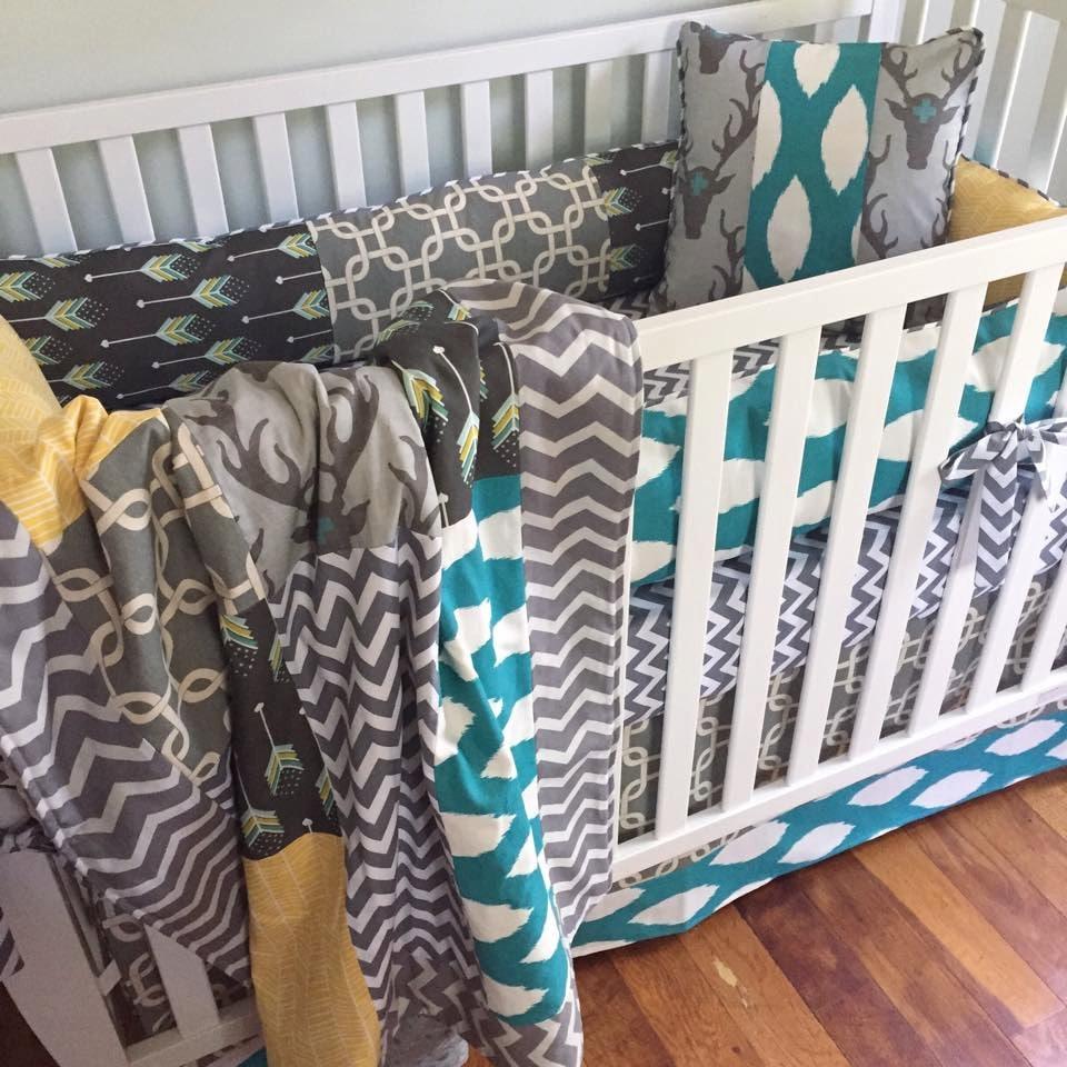 Rustic Deer Crib Bedding Woodland Baby Boy