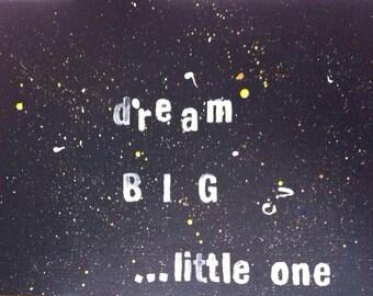 Dream BIG painting
