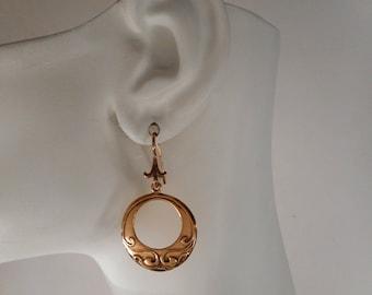 Bronze Bohemian Earrings Open Circle Earrings Made in Montana Fine Jewelry Boho Earrings, Gypsy Earrings, 8th Anniversary Gift for Wife