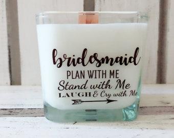 NEW Bridesmaid Proposal Candle/Bridesmaid Gifts/Maid of Honor Gifts/Bridesmaid Candles/Bridesmaid Box/Personalized Wedding Gift/Wedding Gift