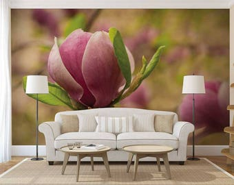 Wallpaper Floral, Wall Mural Romantic, Floral Wall Decal, Wall Mural Flowers