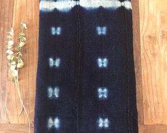 Indigo Mudcloth, Indigo Fabric, Indigo Throw, Mudcloth, Mud cloth, Indigo Mudcloth Fabric, African fabric, African textile, Indigo Textile