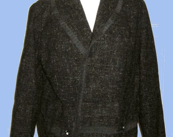 Tailored Vintage Classic 1950's Atomic Fleck Wool Jacket SZ M