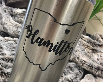 Stainless Steel Engraved Mug - 20oz Lots of Designs - Better than Yeti