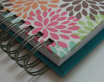 Agenda - Planner - Weekly Planner - Organizer Planner - Weekly Agenda - Unique Planners - Organizer - Wirebound - To Do List - Colorful Mums