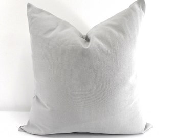 Grey Pillow Cover. Cushion Cover. Solid grey pillow. Sham Pillow case.Select your size.