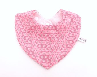 Baby bib bandana pink cotton baby girl cotton absorbent Terry towel