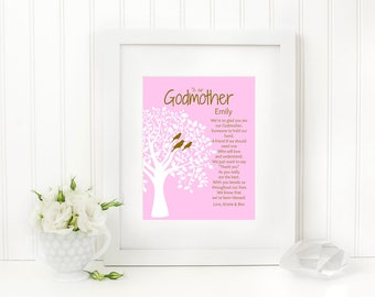 Godparent Print, Godmother Gift, Godfather Gift, Personalized Godparent Gift, Baptism, Digital Download, Godmother Print, Godfather Print